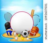 sport background . vector... | Shutterstock .eps vector #1092637031