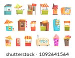fair and market street food and ... | Shutterstock .eps vector #1092641564