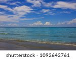 sea view from tropical beach... | Shutterstock . vector #1092642761