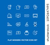 modern  simple vector icon set... | Shutterstock .eps vector #1092647495