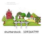 city background | Shutterstock .eps vector #109264799