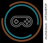 video game controller icon  ... | Shutterstock .eps vector #1092648929