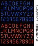 letters and numbers rendered in ... | Shutterstock .eps vector #109264949