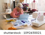 confident senior fashion... | Shutterstock . vector #1092650021