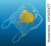 fish in the plastic bag | Shutterstock .eps vector #1092651677