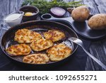 homemade traditional potato... | Shutterstock . vector #1092655271