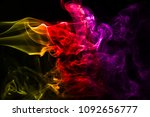 multicolour smoke on black... | Shutterstock . vector #1092656777