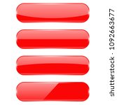 red oval buttons with... | Shutterstock . vector #1092663677