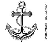 Anchor With Rope. Vector...
