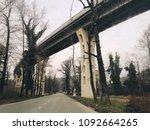 car bridge over road in... | Shutterstock . vector #1092664265