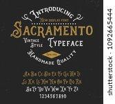 original handmade alphabet.... | Shutterstock .eps vector #1092665444