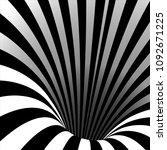 spiral vortex vector. illusion... | Shutterstock .eps vector #1092671225