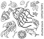 lovely vector collection of the ...   Shutterstock .eps vector #1092673091