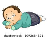 illustration of a kid boy... | Shutterstock .eps vector #1092684521