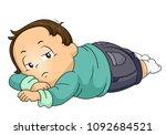illustration of a kid boy... | Shutterstock .eps vector #1092684521