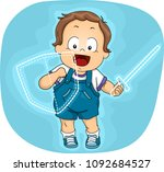 illustration of a kid boy... | Shutterstock .eps vector #1092684527