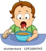 illustration of a kid boy... | Shutterstock .eps vector #1092684545