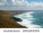 view along the st agnes... | Shutterstock . vector #1092693554