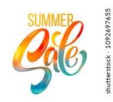 sale calligraphic lettering.... | Shutterstock .eps vector #1092697655