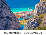 town of omis view through... | Shutterstock . vector #1092698801