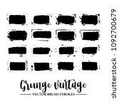 set of black brush stroke and... | Shutterstock .eps vector #1092700679
