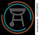 vector grill bbq menu icon ... | Shutterstock .eps vector #1092703091