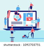 desktop application   flat... | Shutterstock .eps vector #1092703751
