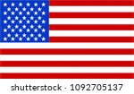 usa flag. official colors and...