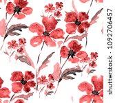 watercolor seamless pattern... | Shutterstock . vector #1092706457