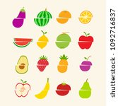 flat fruit icon is truncated... | Shutterstock .eps vector #1092716837