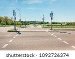 urban pedestrian crossing with...   Shutterstock . vector #1092726374