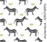 zebra stripes seamless pattern... | Shutterstock . vector #1092728951