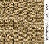 elegant art deco retro pattern. ... | Shutterstock .eps vector #1092731225
