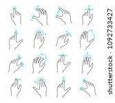 touchscreen gesture icon.... | Shutterstock .eps vector #1092733427