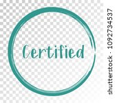 certified stamp products icon ... | Shutterstock .eps vector #1092734537