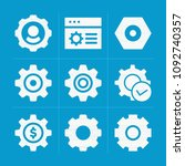 filled cogwheel 9 vector icons... | Shutterstock .eps vector #1092740357