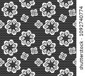 vector seamless pattern lace ... | Shutterstock .eps vector #1092740774