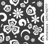 vector seamless pattern lace ... | Shutterstock .eps vector #1092740777