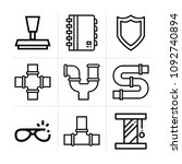 outline other 9 vector icons...