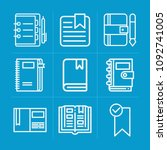 outline bookmark 9 vector icons ...