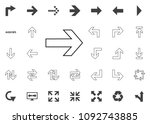 right arrow icon. arrow vector... | Shutterstock .eps vector #1092743885