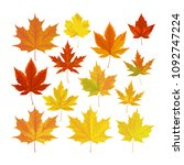 vector illustration  set of... | Shutterstock .eps vector #1092747224