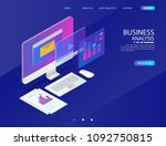 business analysis system ... | Shutterstock .eps vector #1092750815