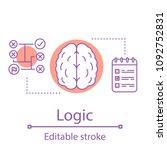 logic concept icon. strategic...   Shutterstock .eps vector #1092752831