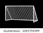 soccer goal flat icon. vector... | Shutterstock .eps vector #1092755399
