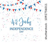 independence day background... | Shutterstock .eps vector #1092756011