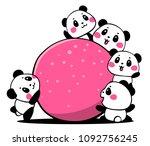 vector illustration of lovely... | Shutterstock .eps vector #1092756245