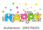 vector illustration of lovely... | Shutterstock .eps vector #1092756251