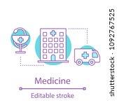 healthcare service concept icon.... | Shutterstock .eps vector #1092767525