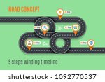 road concept timeline ...   Shutterstock .eps vector #1092770537